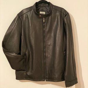 UGG Men's Orlando Leather Racer Jacket in XL.